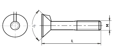 Dimensional diagram of a fish bolt, PN 02 1321